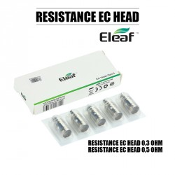 Pack de 5 résistances EC Head - Eleaf