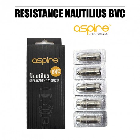Pack de 5 résistances Aspire Nautilus 1,8 ohm