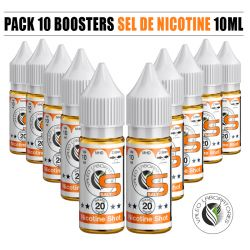 PACK 10 BOOSTERS VALEO SEL DE NICOTINE 50/50 10ML