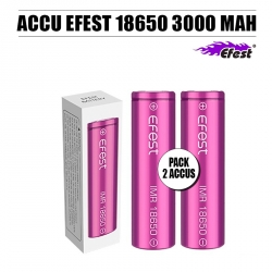 Pack 2 Accus 18650 3000 MAH 35 A Efest