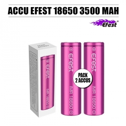 Pack 2 Accus 18650 3500 MAH 20 A Efest