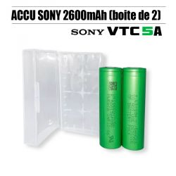 Pack 2 Accus Sony VTC5A 2600mAh