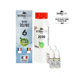 PACK 140ML 20/80 - 6MG - EXTRAPURE
