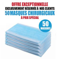 50 MASQUES CHIRURGICAUX TAILLE ENFANT